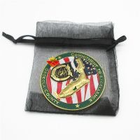Gold Soft Enamel Military Challenge Coin