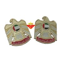 Gold magnetic falcon badge