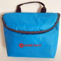 flamingo printing convas cosmetic bag storage bag with handle