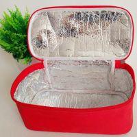 hot sale durable zipper  canvas aluminium foil cooler bag lunch bag