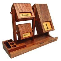 Rotating Wooden Perpetual Calendar