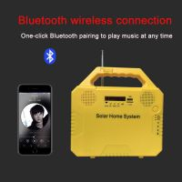 Good quality solar energy lighting kit with music radio bluetooth