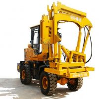 Hydraulic Guardrail Post Pile Driver