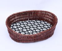Giliglue Wicker Dog Basket for Pet Sleeping XL