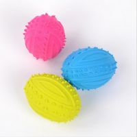 Colorful Rubber Durable Chewing Pet Ball Toy