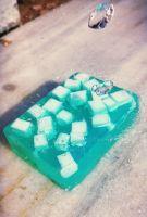 Herbal Soap Aqua Marine (Dead Sea Salt,Mind,Spearmint)