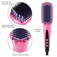 Electric Hair Straightener Brush Comb Fast Ceramic Professional Straightening Irons Hair Brushes