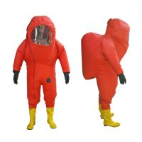 Professional Heavy Duty Type Chemical Protective Suit For Firefighter's Protection