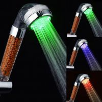 LED Temperature Sensor Colors Changing Red Green Blue LED Shower Head with Top Quality