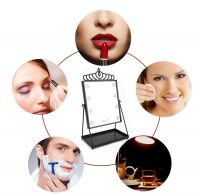 Fancy Lighted Makeup Mirror Hollywood Style Led Makeup Vanity Mirror Speaker with Lights