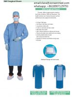 Disposable SMS SMMS Spun Lace AAMI Level 3 Surgical Gown with Reinforce