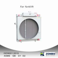 Aluminum plate fin heat exchanger oil cooler radiators for forklifts