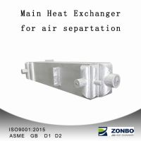 Cryogenic main heat exchanger for air separation