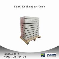 Aluminum plate fin heat exchanger core