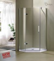 North-America Market Hot Selling Fashion Frameless Pivot Door Shower Enclosure