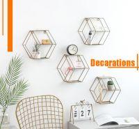 Geometry Matel Wall Shelves Rack ins