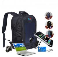 backpack with solar battery charger