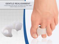 Original Toe Spacers for Bunions, 2 Pieces, Temporary Bunion Corrector - Soft Gel Bunion Splint Toe Separators - Fast Bunion Relief  TS143