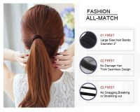 50pcs/set Seamless 6mm High Elastic Cotton stretch Hair Ties Bands Rope Ponytail Holders Headband Scrunchie Hair Accessories