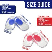 1pair Silicone Gel Heel Cups, Shoe Inserts for Plantar Fasciitis, Sore Heel Pain, Bone Spur and Achilles Pain, Pad and Shock Absorbing Support  ZG133