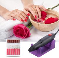 Finger Toe Nail Care Electric Nail Drill Machine Manicure Pedicure Kit Nail Art File Drill with 100pcs of Sanding Bands 30pcs Drill Bits TE136