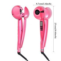 LCD Automatic Hair Curler Ceramic Curling Iron, Wing Salon Rollers Hair Care Steamer Spiral Tools  LH139