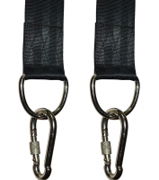 Tree Swing Straps Hanging Kit (Set of 2) - 10ft Long with Two Size D Shape Ring and Two Zinc Alloy Carabiners - 2000Lbs Break Strength - for Swings and Hammocks Black&iq
