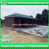 Prefab House Kits With 3 Bedroom and One Living room with Cultural Stone Sandwich Panel