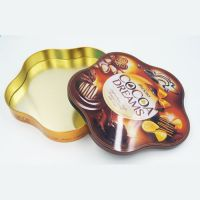 flower-shape chocolate tin box manufacture in China
