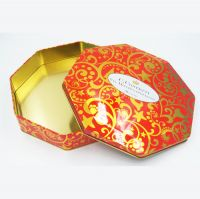 Octagon chocolate tins packaging supplier from China
