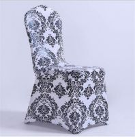 China Stretchy Spandex Fitted Metallic Banquet Chair Cover for Wedding Party Event Catering