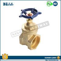 NSF approved female thread brass stem gate valve