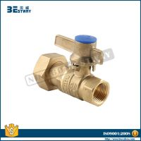 water meter valve with lockable lever and swivel nut