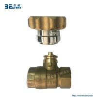 magnetic lockable brass ball valve for water meter