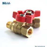 lead free food grade brass ball valve with T handle