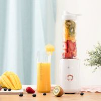 Juicer household, portable, multi-function smoothie juicer, mini electric juicer cup double cup, auxiliary food processor, original juicer,2098 runyu bai