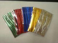 colourful metallic twist ties/ PET twist ties/bag tie