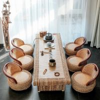 Garden Rattan sofa tea coffee set