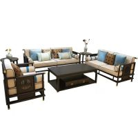 New Chinese style modern solid wooden sofa