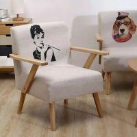 Nordic single recreational Fabric sofa