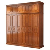 Solid wooden simple modern Chinese integral wardrobe