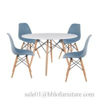nordic home dining room furniture white high gloss wooden MDF dining table set design