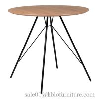 MDF table, fast food square kitchen restaurant plastic wood modern dining table set