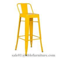 modern indoor outdoor plastic metal high bar stool chair