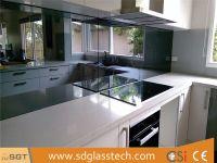 Toughenable Mirror Toughened Mirrored Kitchen Splashback Glass
