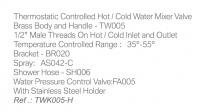 Thermostatic Warm Water Bidet Shower Kits  TWK005-H