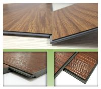 PVC flooring vinyl material Wood effect low maintenance click lock system soundproof waterproof plastic floor covering
