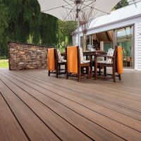 WPC wood plastic composite decking board with CE