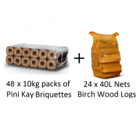 48 Packs PINI KAY + 24 Nets Birch Logs
