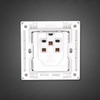 3 pin wall socket with  1 Way Switch